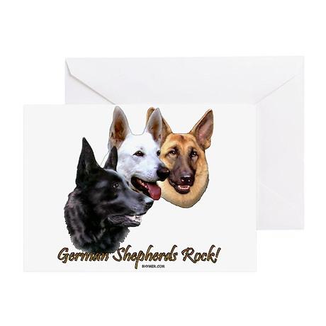 German Shepherds Rock Greeting Card