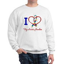 I Love My Autistic Grandson Sweatshirt