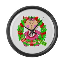 Chinese Baby 1st Christmas 2010 Large Wall Clock