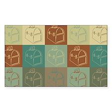Lunchboxes Pop Art Rectangle Sticker 10 pk)
