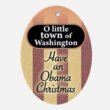 O little town of Washington Oval Ornament