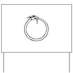 Ouroboros Symbol Yard Sign