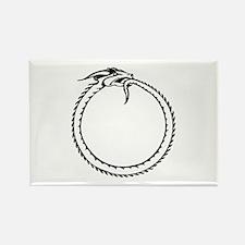 Ouroboros Symbol Rectangle Magnet