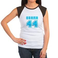 Obama 44 Light Blue Women's Cap Sleeve T-Shirt