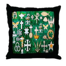 Cute Christian christmas Throw Pillow