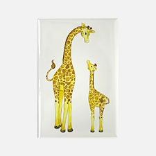 Mom and Baby Giraffe Rectangle Magnet