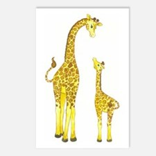 Mom and Baby Giraffe Postcards (Package of 8)