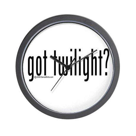 got twilight? Wall Clock