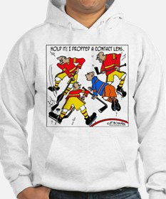 Playing Hockey W/ Contact Lenses Hoodie