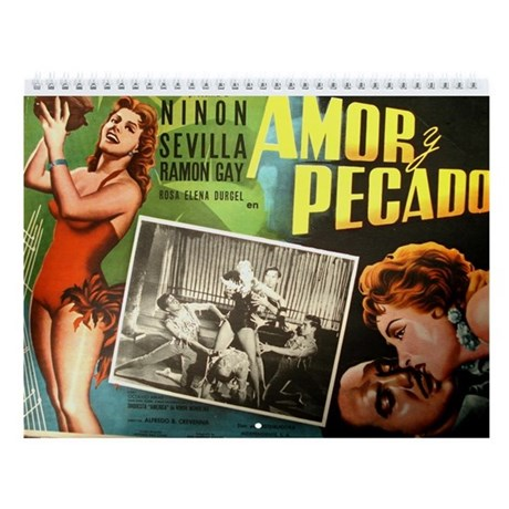 2017 vintage mexican movie posters wall calendar by