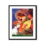 Angel/Sealyham L1 Framed Panel Print