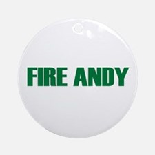 Fire Andy Ornament (Round)