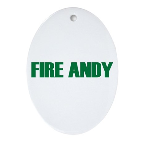 Fire Andy Oval Ornament