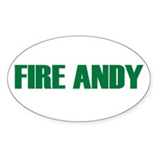 Fire Andy Oval Decal