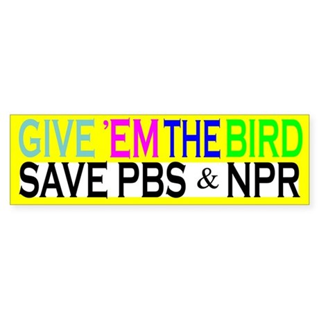 Save PBS Bumper Sticker