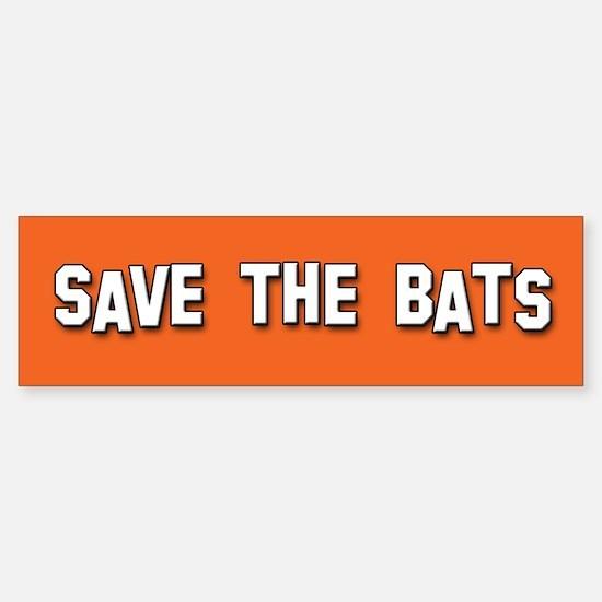 Save the Bats Bumper Bumper Bumper Sticker
