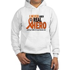 Never Knew A Real Hero 2 ORANGE Hoodie