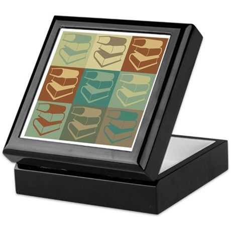 Library Work Pop Art Keepsake Box