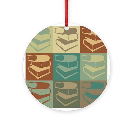 Library Work Pop Art Ornament (Round)