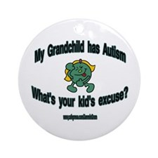 EXCUSE GIRL Ornament (Round)