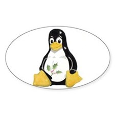 Christmas Tux Oval Decal