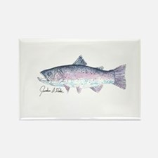 Rainbow Trout Rectangle Magnet