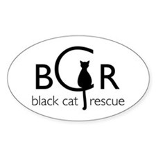 Black Cat Rescue Decal