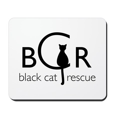 Black Cat Rescue Mousepad