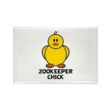 Zookeeper Chick Rectangle Magnet (10 pack)