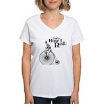 That's How I Roll Women's V-Neck T-Shirt