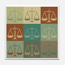Law Pop Art Tile Coaster
