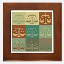 Law Pop Art Framed Tile