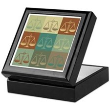 Law Pop Art Keepsake Box