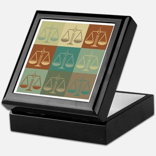Law Pop Art Keepsake Box