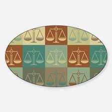Law Pop Art Oval Decal