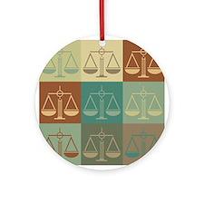 Law Pop Art Ornament (Round)