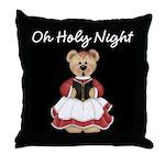 Caroling Bear Throw Pillow