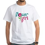 Flower Girl White T-Shirt