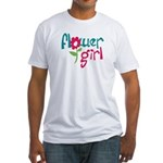 Flower Girl Fitted T-Shirt