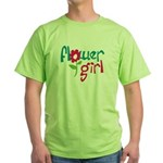 Flower Girl Green T-Shirt