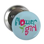 "Flower Girl 2.25"" Button"