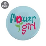"Flower Girl 3.5"" Button (10 pack)"