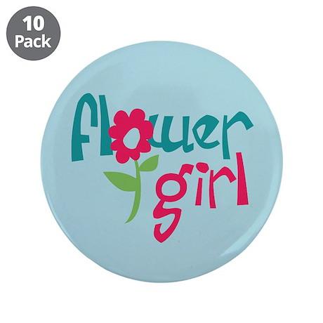 "Flower Girl 3.5"" Button (10 pack)"