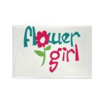 Flower Girl Rectangle Magnet (100 pack)