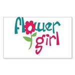 Flower Girl Rectangle Sticker