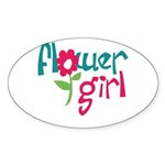 Flower Girl Oval Sticker