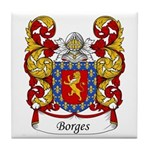 Borges Family Crest Tile Coaster