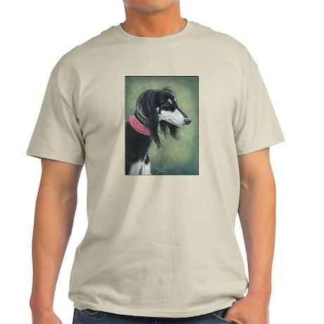 Saluki (Black and Silver) Light T-Shirt