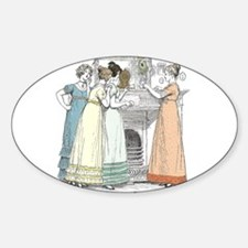 Pride & Prejudice Ch 16 Oval Decal