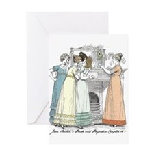 Pride & Prejudice Ch 16 Greeting Card
